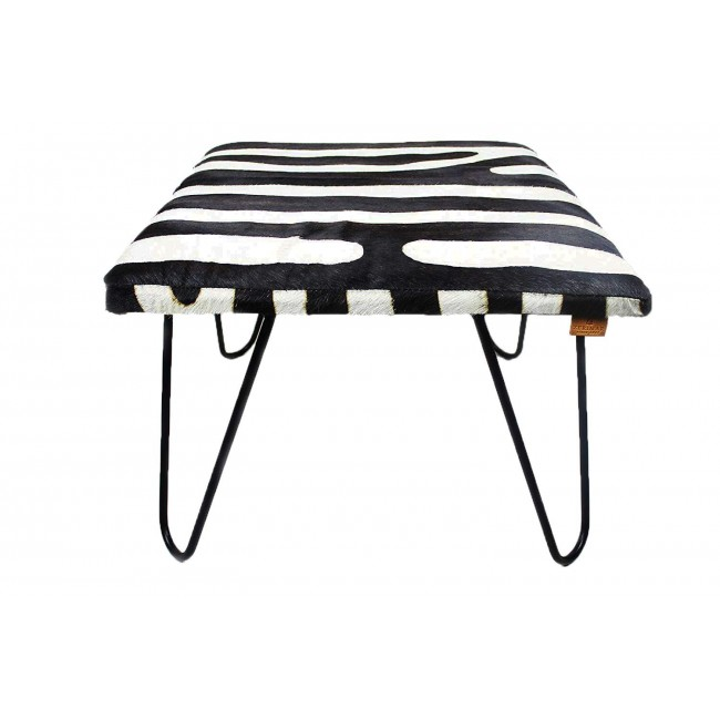 Goathide Metal Stool, 23x23x17 in, Foot Stools, Entrance Stools