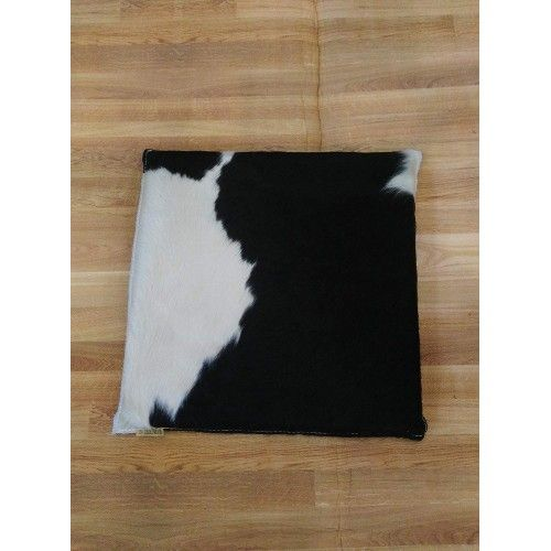 Cowhide Cushion, 13x13 in,...