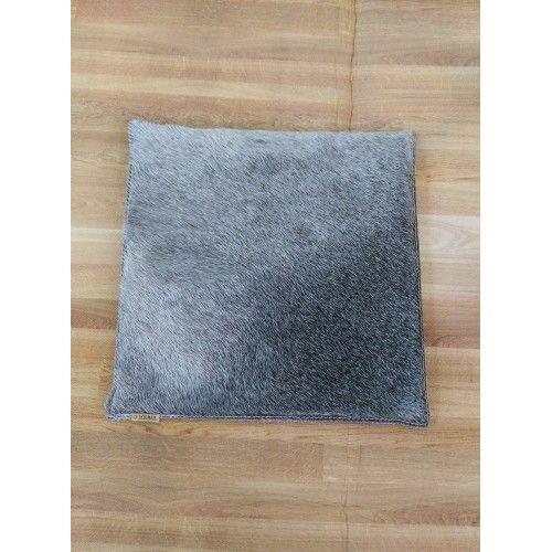Cowhide Cushion, 13x13 in,...