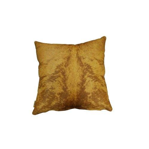 Cowhide Cushion, 15x15 in,...