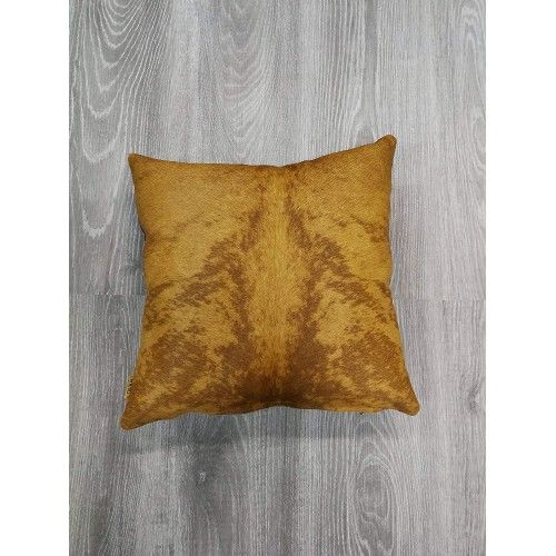 Cowhide Cushion, 15x15 in,...