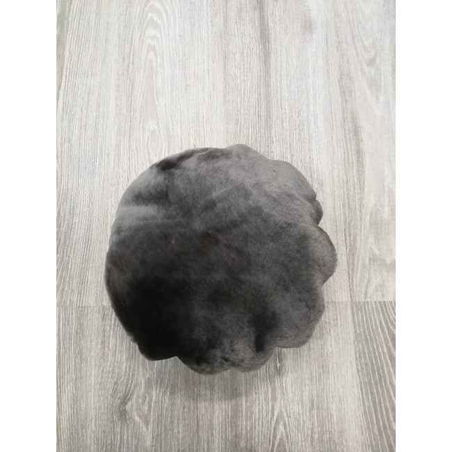Lambskin Cushion, 37 in, Leather Cushion Covers, Bedroom Cushions 1