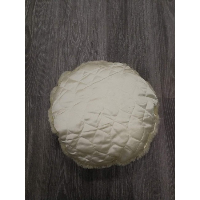 Lambskin Cushion, 13 in, Leather Cushion Covers, Bedroom Cushions