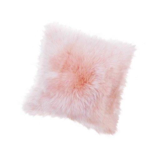 Lambskin Cushion 15x15 in,...