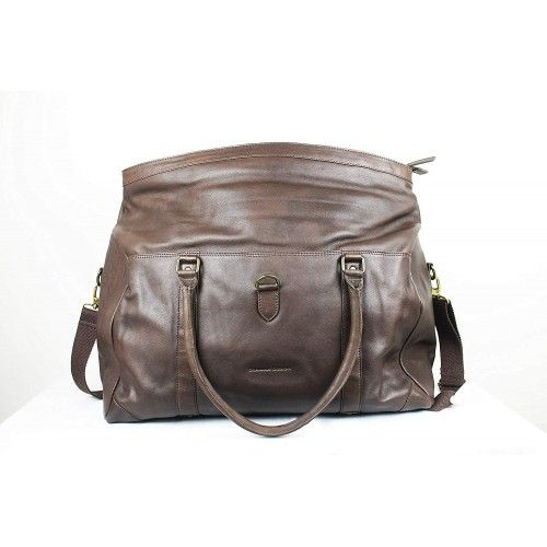 Leather Briefcase, Travel...