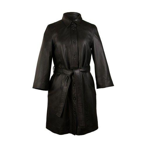 Vestido y abrigo de piel...