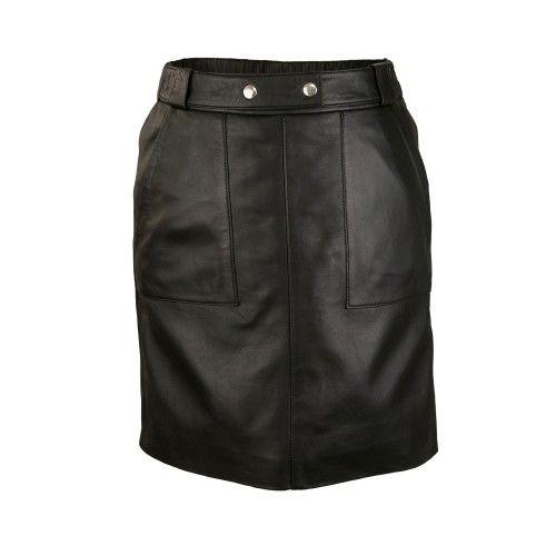 Mini falda con bolsillos y...