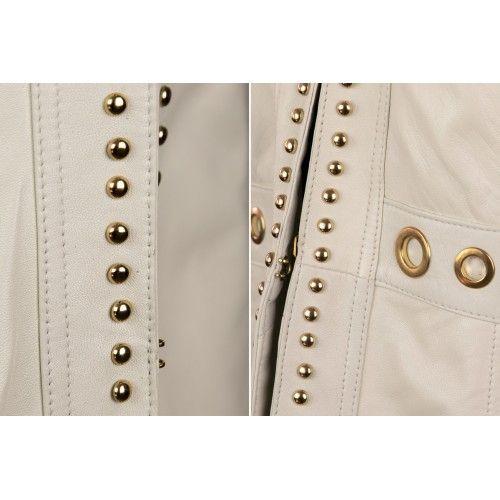Die cut natural leather jacket