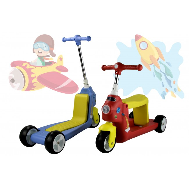 ROCKETS Scooter and 3-wheel balance bike - 2 in 1