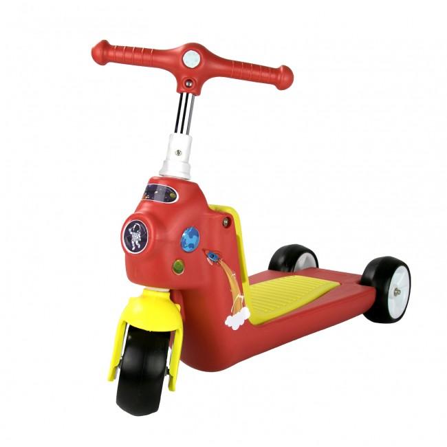 Patinete y bicicleta de equilibrio de 3 ruedas ROCKETS- 2 en 1