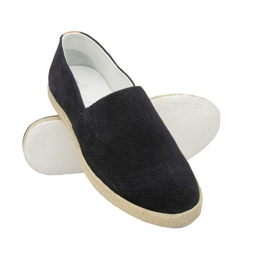 Leather espadrilles with...