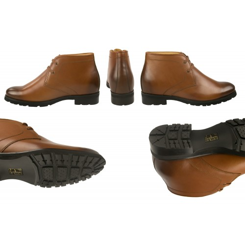 Gradient leather ankle...
