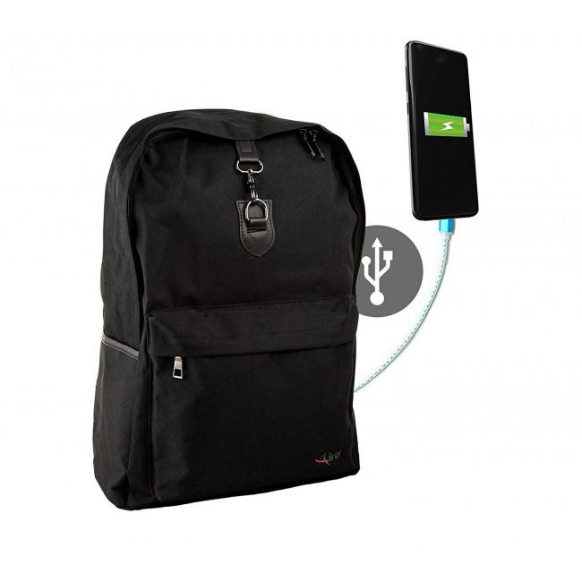 "Mochila inteligente con conector USB para portatil 15.6"" 44x32x14 cm."