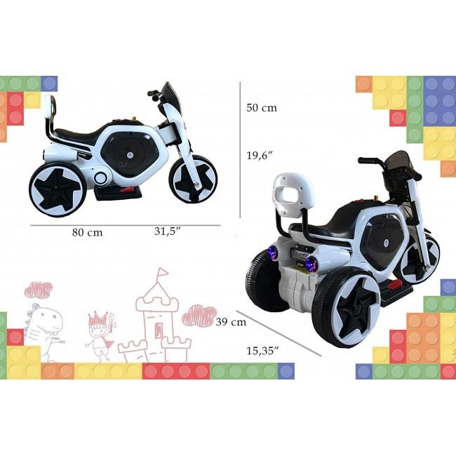 Moto electrica con musica y luz para niños de 1 a 4 años