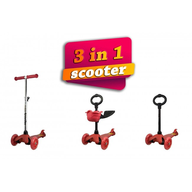Patinete de 3 Ruedas para Niños Entre 3 y 10 años Scooter