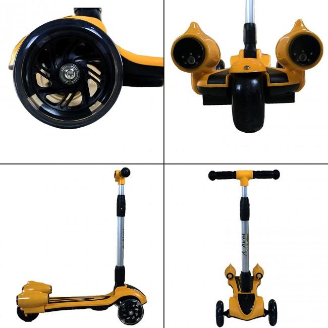 Patinete de 3 ruedas plegable con musica y vapor de 3 a 10 años