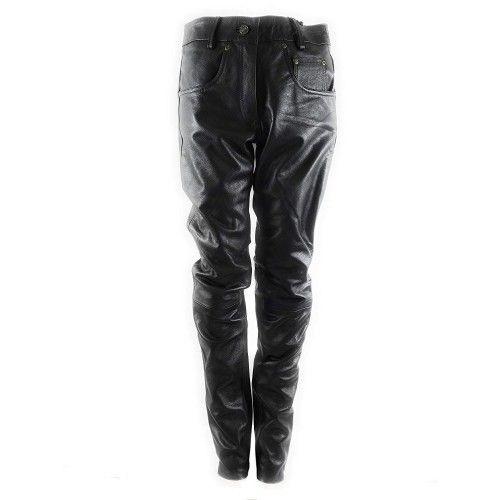 Pantaloni in pelle per...