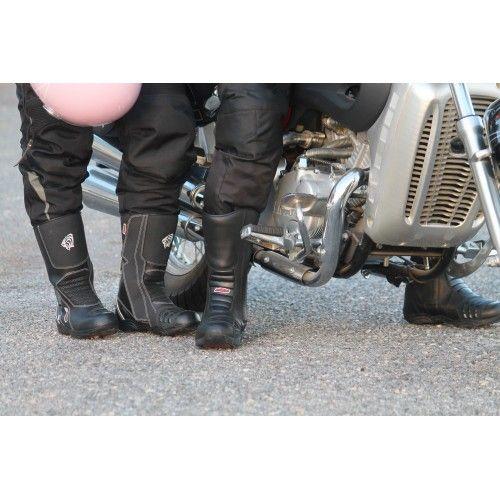 Botas de piel para moto con...