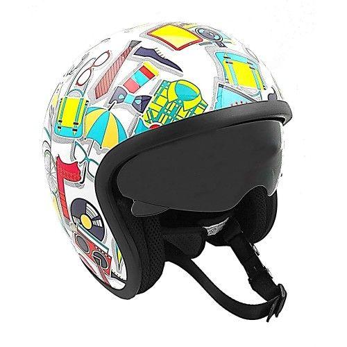 Otwarty kask motocyklowy z...