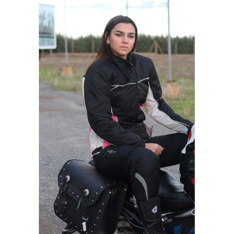Biker Jacket with Protections, Cordura Motorcycle Jacket Women