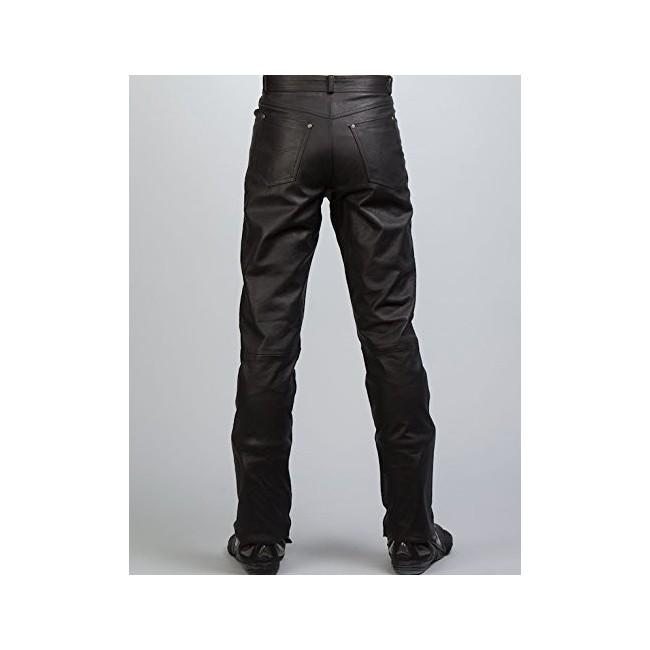 Pantalon de piel con bolsillos