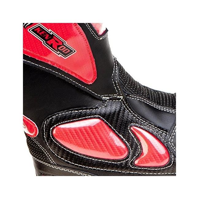 Botas de motociclismo de piel para caballero y señora