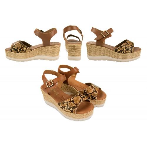 Sandalias de piel con...