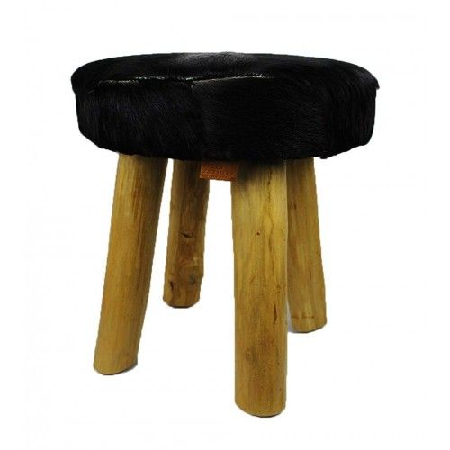 Pack of two Black Goat hide...