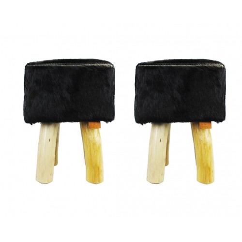 Pack of two Goat hide Wood...