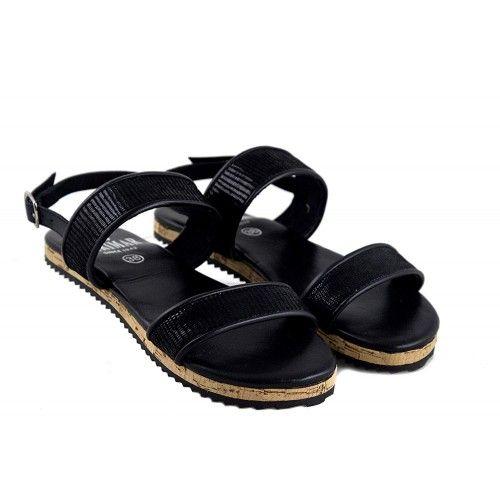Damskie skórzane sandały,...