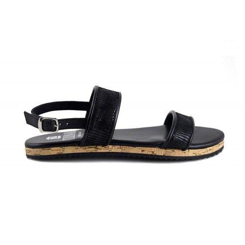 Sandalias de piel planas