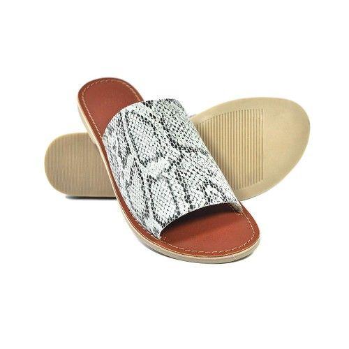 Sandalias de piel estampado...