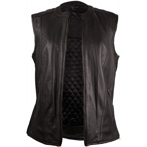 Leather Waistcoat with...
