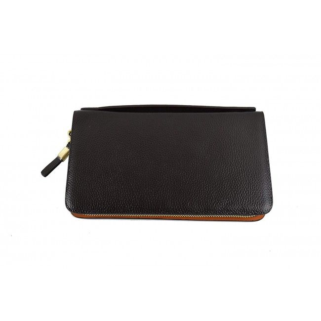Leather Hand Wallet, Leather Wallet with Coin Pocket, Leather Wallet