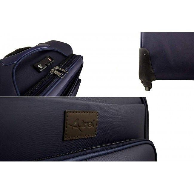 Maleta Trolley estilo ejecutivo business con ruedas 40x41x17 cm.