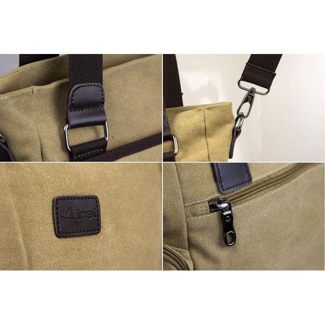 Bolso maletin de bandolera estilo vintage 35x50x70 cm.