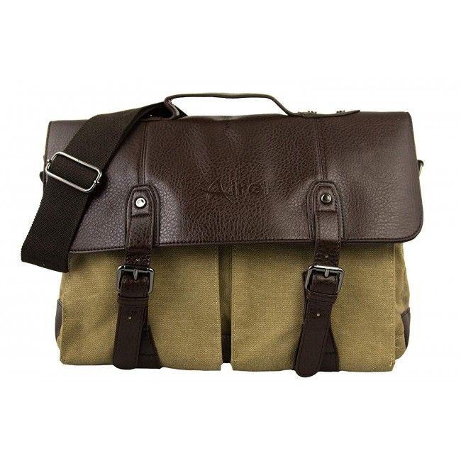 Bolso maletin de bandolera estilo vintage 25x40x15 cm.
