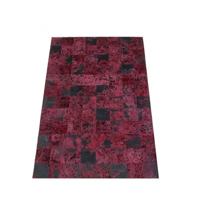 Cowhide Area Rug Patchwork, 26x53 in, Area Rugs Living Room