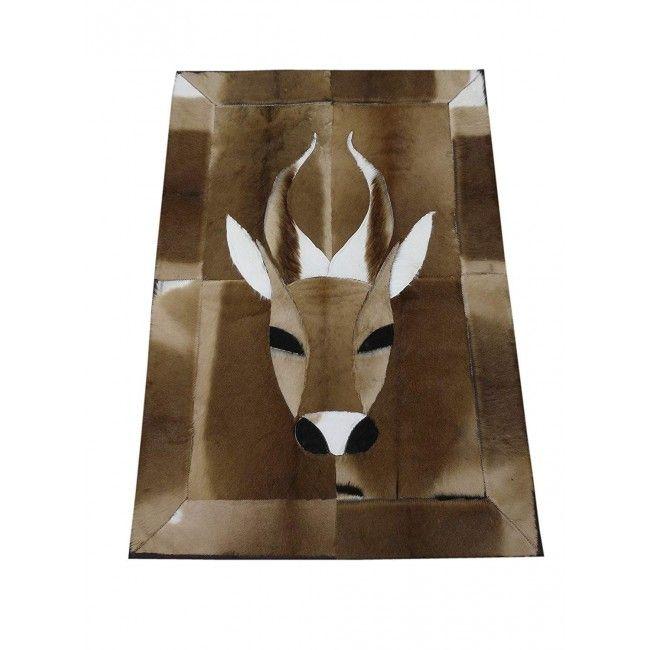 Gazelle Area Rug, 48x33 in, Exotic Area Rug, Area Rug Living Room