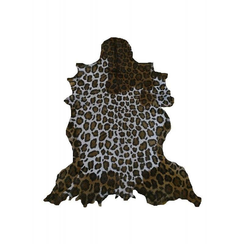 Goat Area Rug Leopard Imitation, 39x31 in, Area Rug Living Room