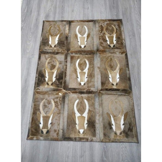 Gazelle Area Rug, 62x45 in, Exotic Area Rug, Area Rug Living Room