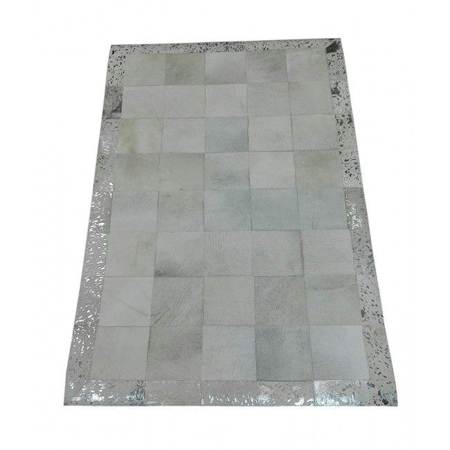 Cowhide Area Rug Patchwork, 70x47 in, Area Rugs Living Room