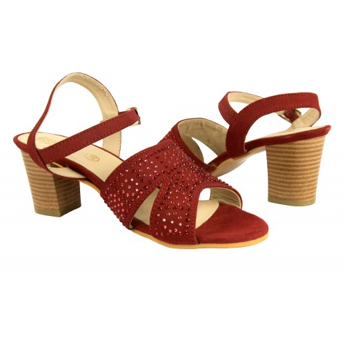 Leather glitter sandals...