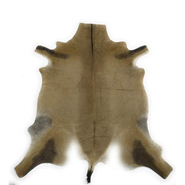 Exotic rug in natural antilope leather 140x130 cm