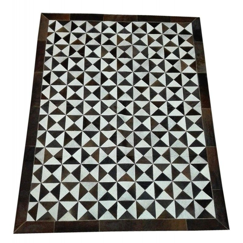 Cowhide Area Rug Patchwork, 78x59 in, Area Rugs Living Room