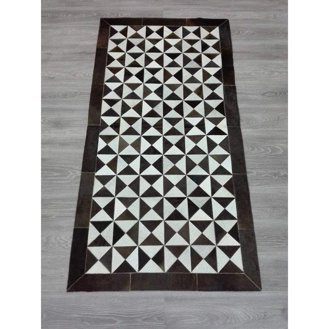Cowhide Area Rug Patchwork, 76x39 in, Area Rugs Living Room