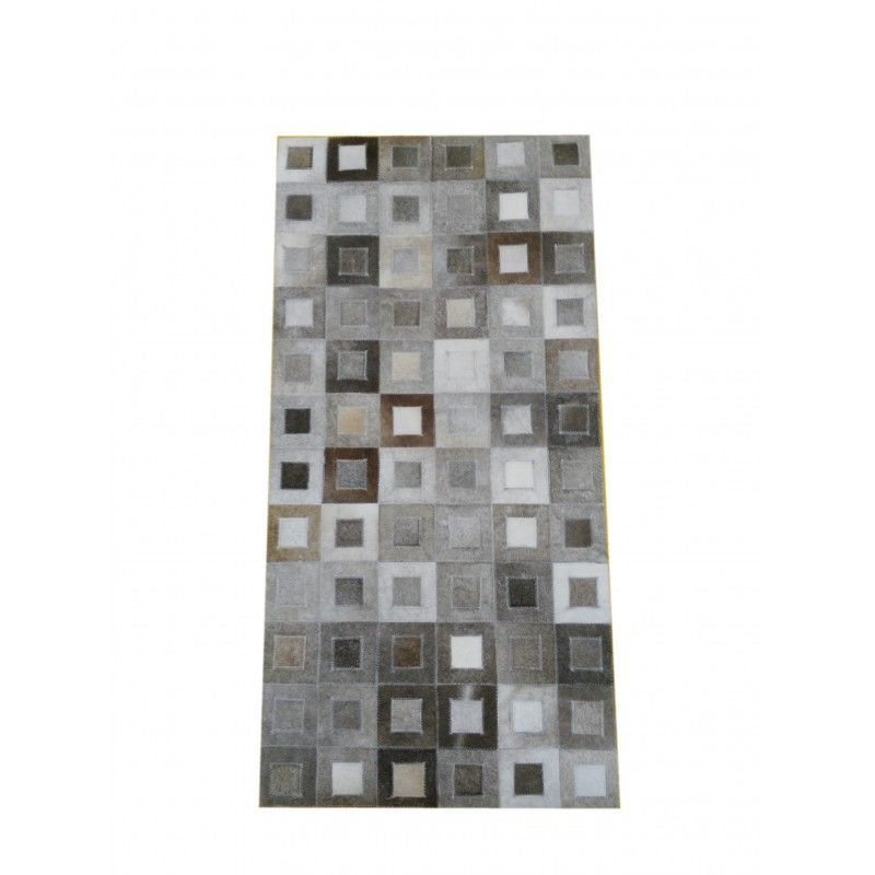 Cowhide Area Rug Patchwork, 59x117 in, Area Rugs Living Room
