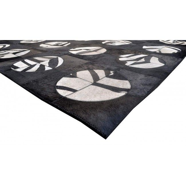 Cowhide Area Rug Patchwork, 48x72 in, Area Rugs Living Room 1