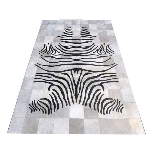 Cowhide Area Rug, 55x78 in,...