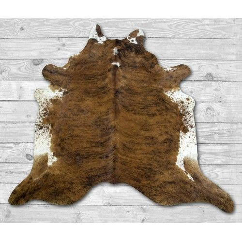 Cowhide Area Rug, 76x90 in,...